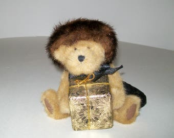"Retired Boyds Bear Ivanna Spendalot 8"" Plush  Born to Shop Bear"