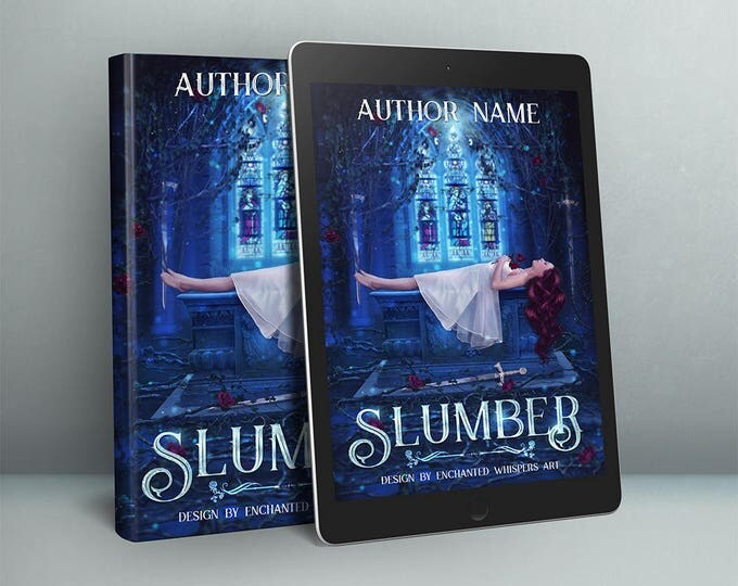 premade fantasy sleeping beauty fairytale book cover art