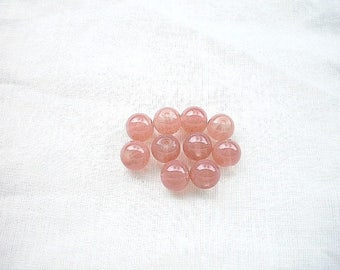 10 pearls 8mm pink jade