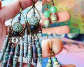 RESERVED For TIA Paper Bead Earrings