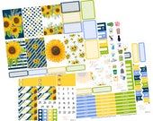 Big Happy Planner Stickers / Sunflower Stickers / Planner Stickers / Erin Condren Hardbound / Full Sticker Kit / BHP55
