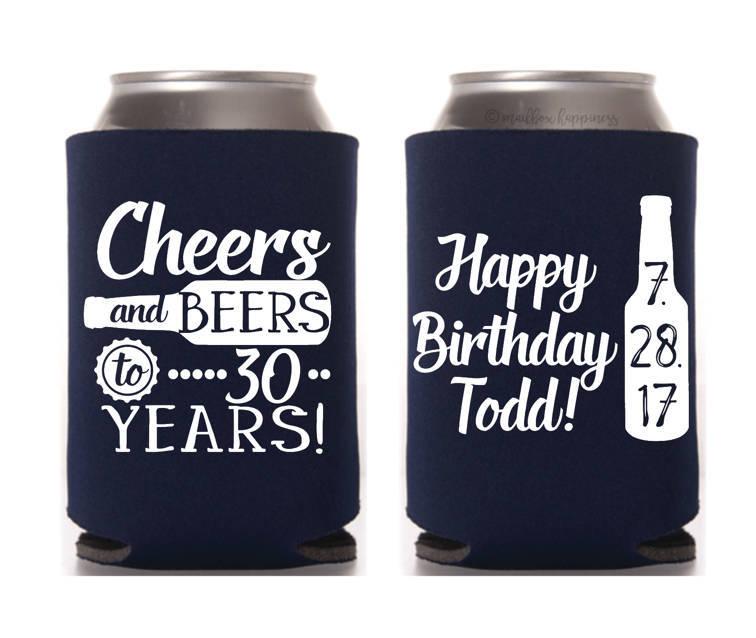 Birthday Koozie Quotes: Birthday Can Cooler Happy 30th Birthday Custom Birthday