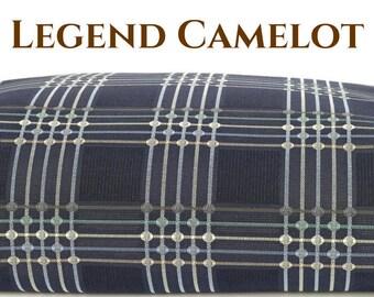 Waterproof Dog Bed Cover, Dog Duvet, Stuffable Pet Bed, Durable Dog Bed, Dog Pillow Bed, Pet Bed Cover, Legend Camelot, Blue Geometric Lines