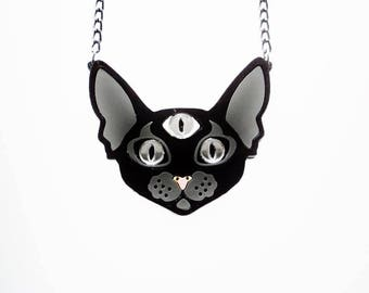 Enlightenment Kitty necklace