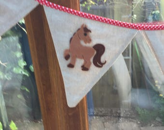 Horse  Bunting ,Pony Garland, New home , Kids Home , Ponies, Animal Bunting, Horses. Horse