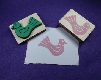 stamp Bird / Dove, 5.2 x 3.5 cm (S10-0015A)