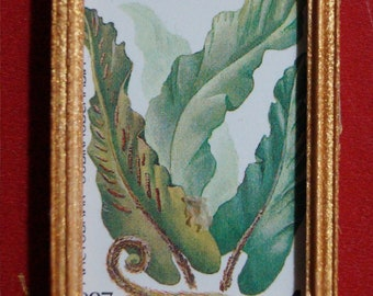 Dollhouse Framed Stamp; Fern Botanical