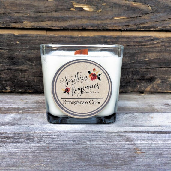 Pomegranate Cider Soy Candle, 12oz Soy Candle, Southern Fragrances, Handmade in NC, Pomegranate  Candle, Fall Candle, Cider Candle