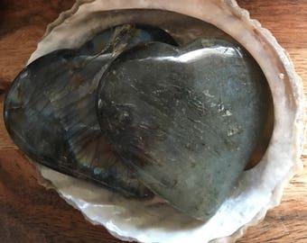 Labradorite Gemstone Heart, Healing Stones, Healing Crystal, Chakra Stones, Spiritual Stone, Gemstone