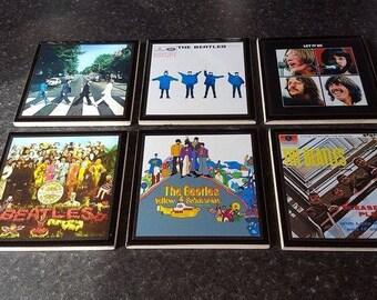 The Beatles Album Cover Ceramic Drinks Coasters