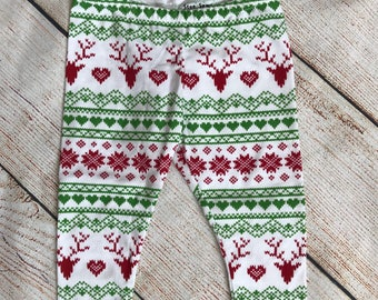 Christmas leggings 9-12months