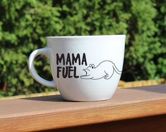 Mama Fuel Funny Coffee Mugs - Gifts for Coffee Lovers and New Moms