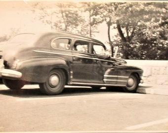 Vintage 1950's Automobile Photograph Niagara Falls Tourist Card Sepia Photo Historical Souvenir Photograph Auto Car Memorabilia