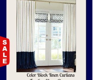 spring sale 20% off now navy blue and white striped curtains