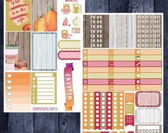 Weekend Sale Floral Fall Kit for Happy Planner
