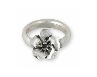 Forget Me Not Ring Jewelry Sterling Silver Handmade Flower Ring FMN3-R
