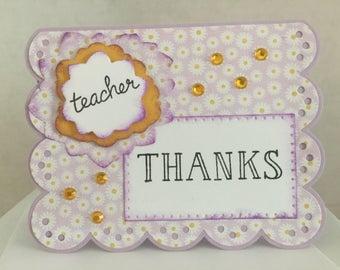 Teacher Floral Thank You Card TE01