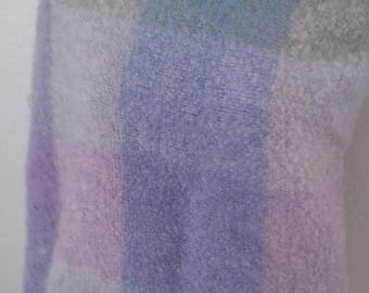 Vtg 80's Woven Mohair Shawl from Scotland - Handwoven