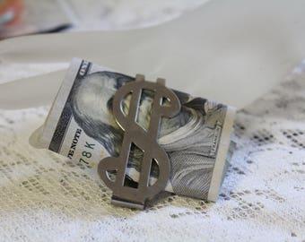 Vintage Money Clip, Dollar Sign Money Clip, Vintage Men's Gift, Vintage Groom Gift