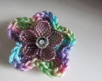 Flower Purple Brooch