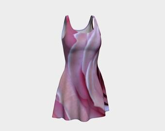 Floral Flare Dress, Skater Dress, Teen Clothing, Pink Flower dress, Reversible dress, Flower Flare Dress, Pink Club Wear, Spandex Mini Dress