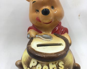 Vintage Winnie the Pooh Ceramic Bank Honey Pot