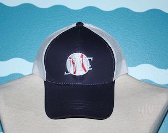 Mens Monogrammed Baseball cap - Ball Cap - Baseball Monogram - Custom Ball cap - Mens Baseball Hat - Personalized Ball hat - Baseball Player