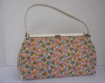 Floral Fabric Covered Purse