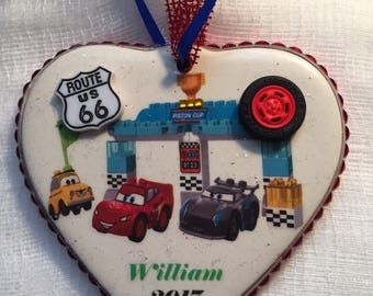 Disney CARS personalized Christmas ornament