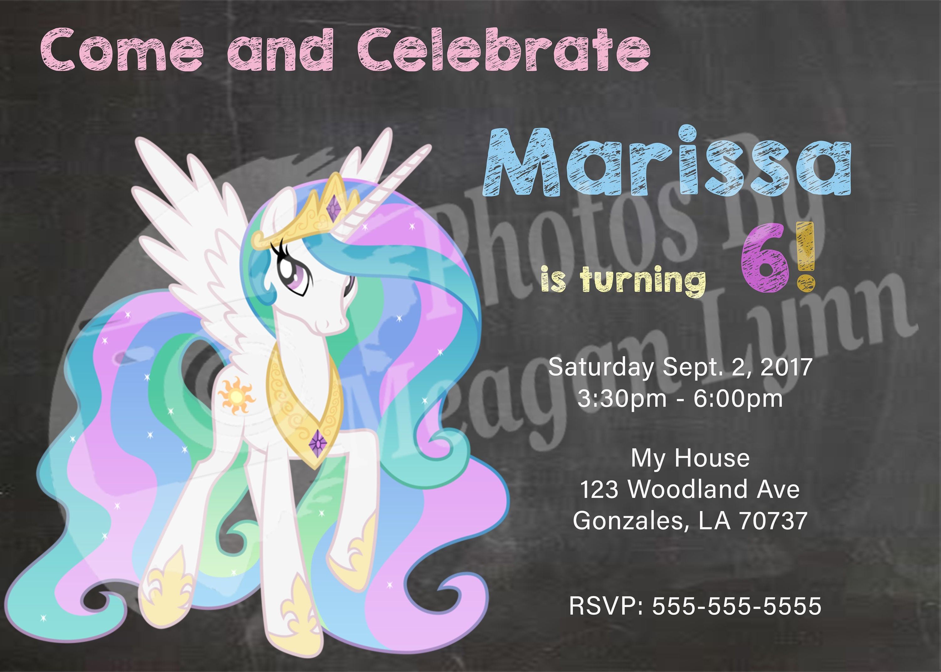 My Little Pony Birthday Invitations Pt 1 DIGITAL