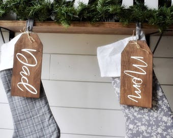 Personalized Christmas Stocking Tags | Stocking Tags | Personalized Gift Tags | Personalized Stocking Name Tags