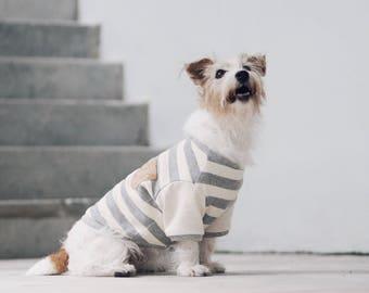 Oh! Basic Tee / Grey White Stripes