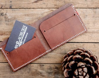 Leather Bi-Fold Wallet / Walnut