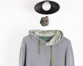 Vintage Hoodie/90's Hoodie/Vintage Jumper/Vintage Sweatshirt/Vintage Hoody/90's Hoody/Vtg Hoodie/Vtg Hoody/Crux Korea/Gray D36 Men size S,M