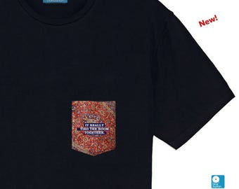 The Big Lebowski Pocket Tee Shirt Mens Clothing Pocket The Dude Abides Rug Tshirt Valentine's Day Gift
