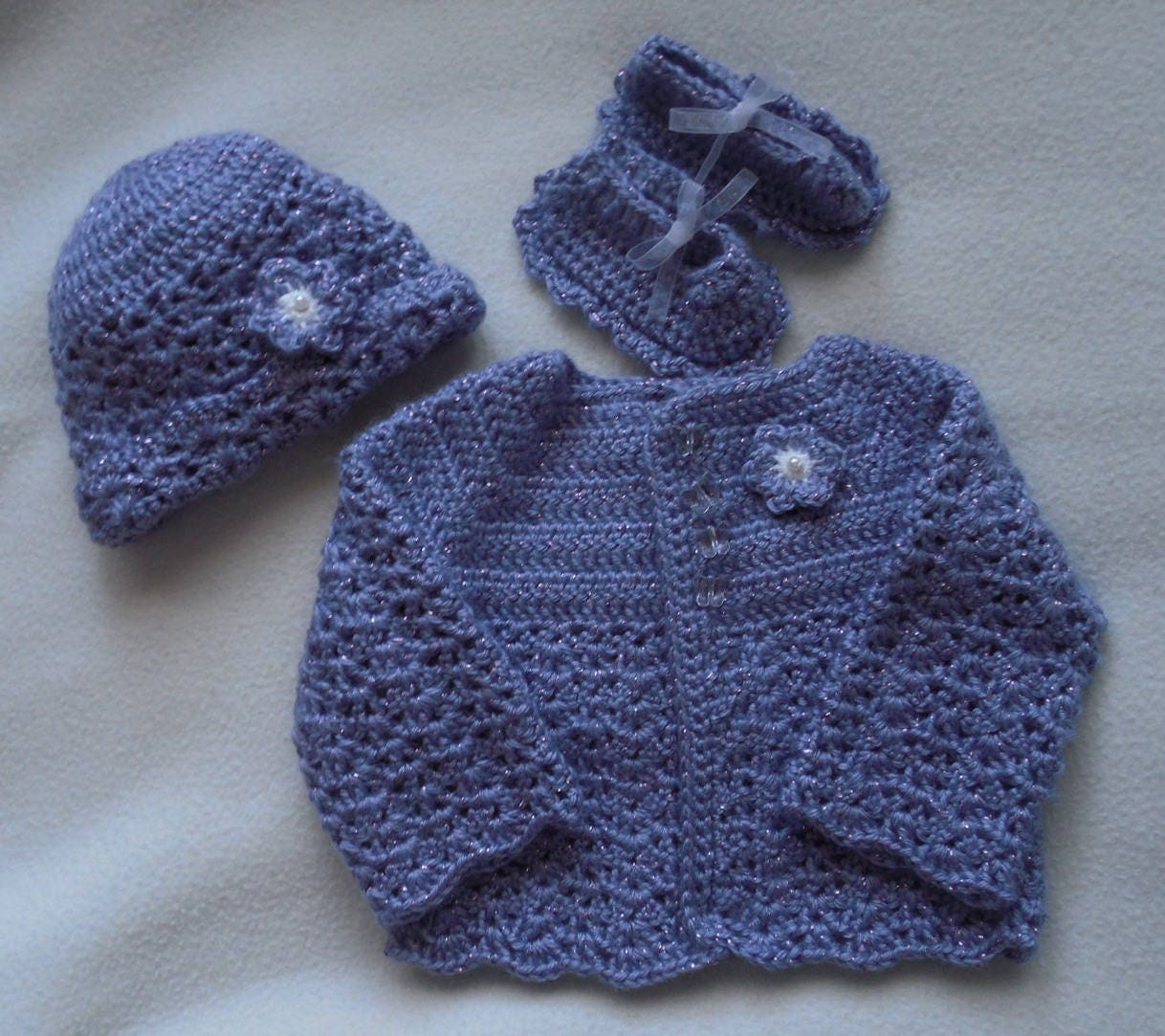 Crochet baby sweater lilac baby sweater lavendar baby sweater