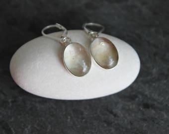 Topaz Earrings, Sterling Silver, Leverback
