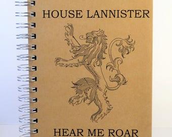 House Lannister Journal, House Lannister Sketchbook, Art Journal, GOT Journal, Houst Stark Sketchbook, Handmade Journal, Handmade Sketchbook
