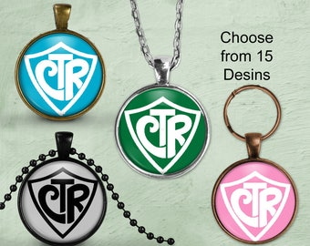 CTR Necklace LDS Mormon Pendant Necklace or Mormon Keyring,  Mormon Pendant Religious Jewelry Choose the right