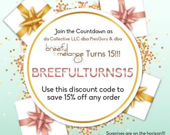 Discount Code - Flash Sales - Flash Discount - Coupon Code - Monthly Thank You from Breeful Melange