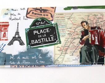 Porte chéquier femme thème Paris