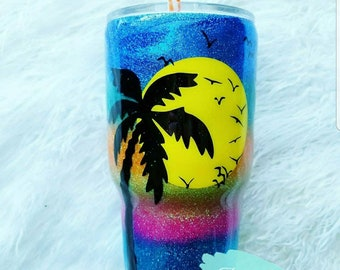 Beach Lovers Gift/glitter/yeti/tumbler/mug/coffee cup/honeymoon/anniversary/wife/girlfriend/best friend/sister/in law/mother/mom/birthday
