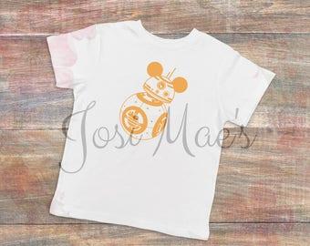 BB8 Mickey Ears Shirt - Toddler Sizes - Disney Vacation Shirt