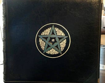 Halloween prop book,blank leather spell book,wicca,scrapbook,picture book,book of shadows,photo album