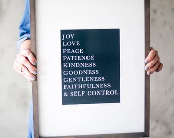 FRUIT of the spirit art print, Galatians 5:22-23