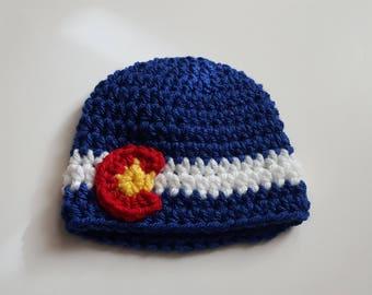Preemie Colorado Hat/Preemie Colorado Beanie/Ready to Ship