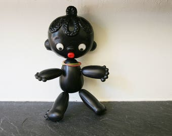 Antique Collectible Soviet Black Doll