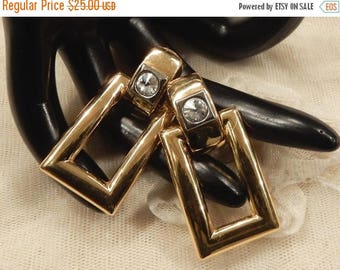 ON SALE Nice Vintage  Rectangular  Door Knocker Style Dangle Earrings