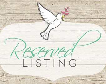 Reserved - combine with previous order
