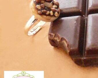 Ring Donut chocolate-peanut